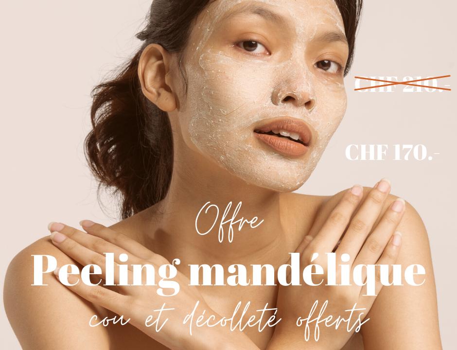 Offre spéciale sur le traitement esthétique peeling mandélique
